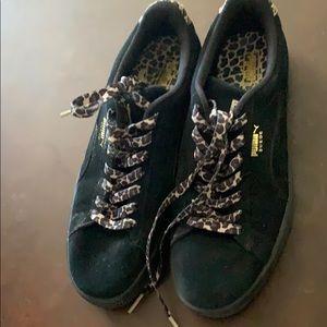 Leopard print puma shoes